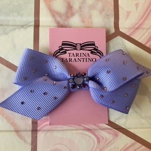 NEW✨ Tarina Tarantino Purple Swarovski Crystal Bow